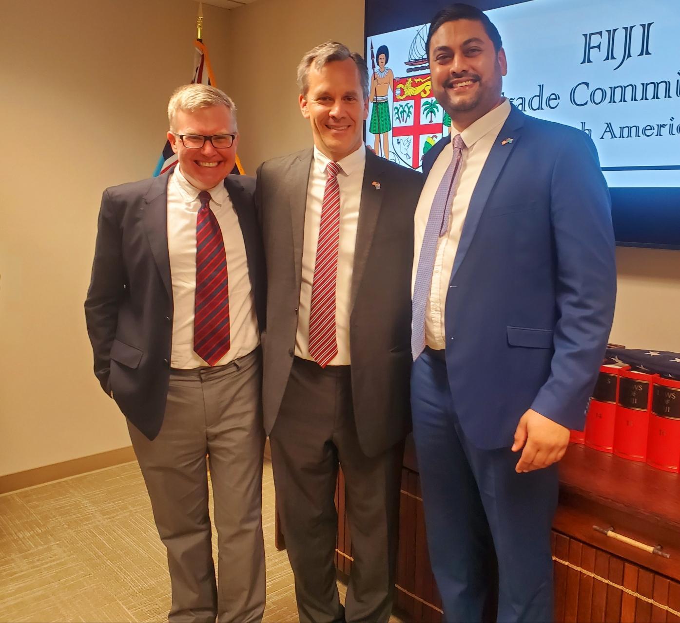 Last Friday the Fiji Trade Commission North America was Honored to host USA Ambassador to Fiji Mr Joseph Cella.