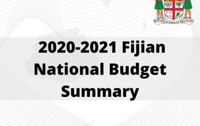 2020-2021 Fijian National Budget Summary
